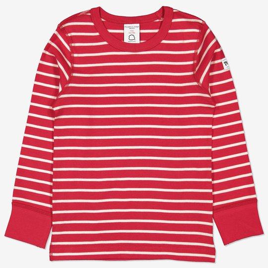 Genser stripet barn rød
