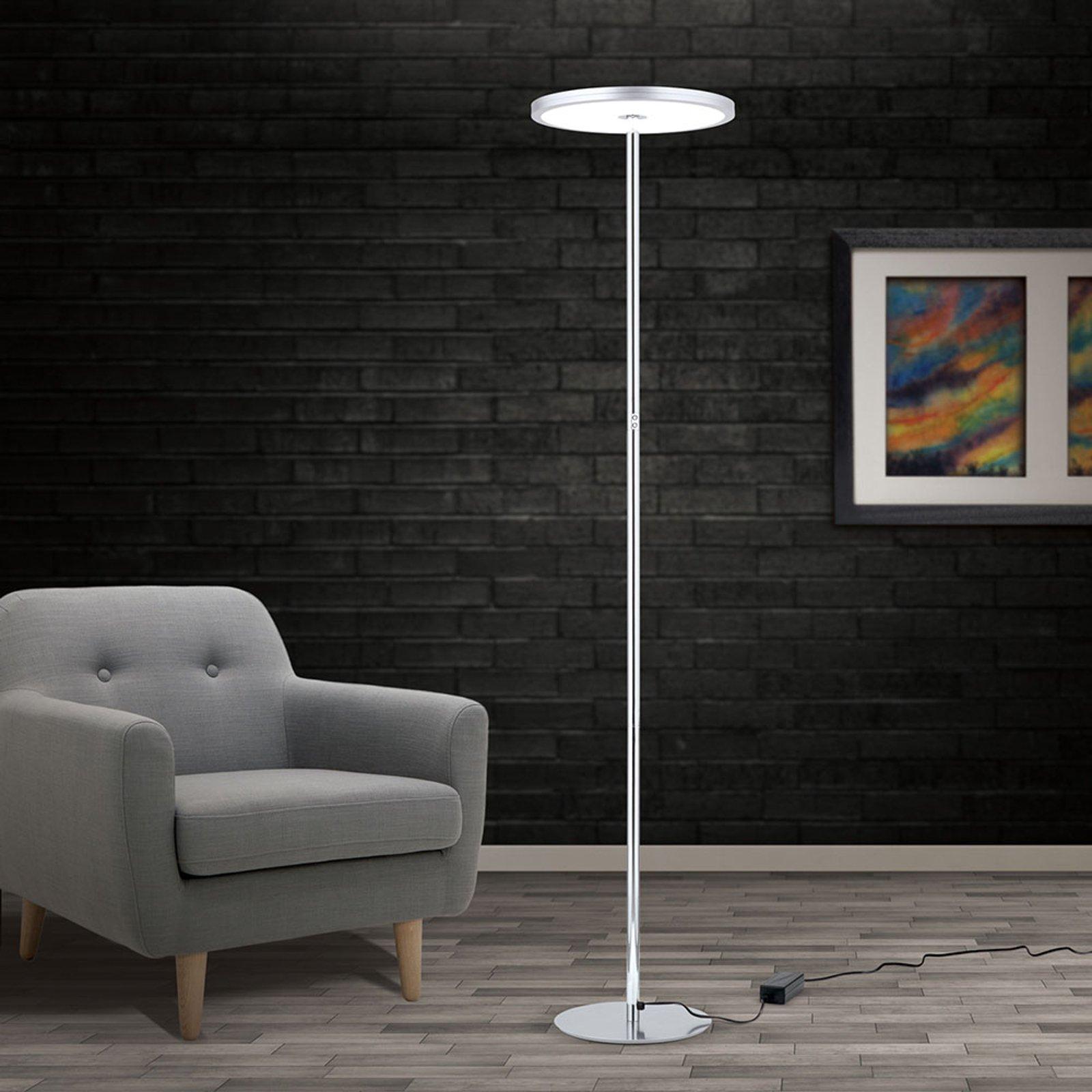 LED-gulvlampe Greg, dimbar