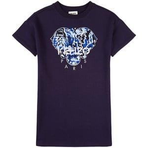 Kenzo Elephant T-shirtklänning Marinblå 2 år
