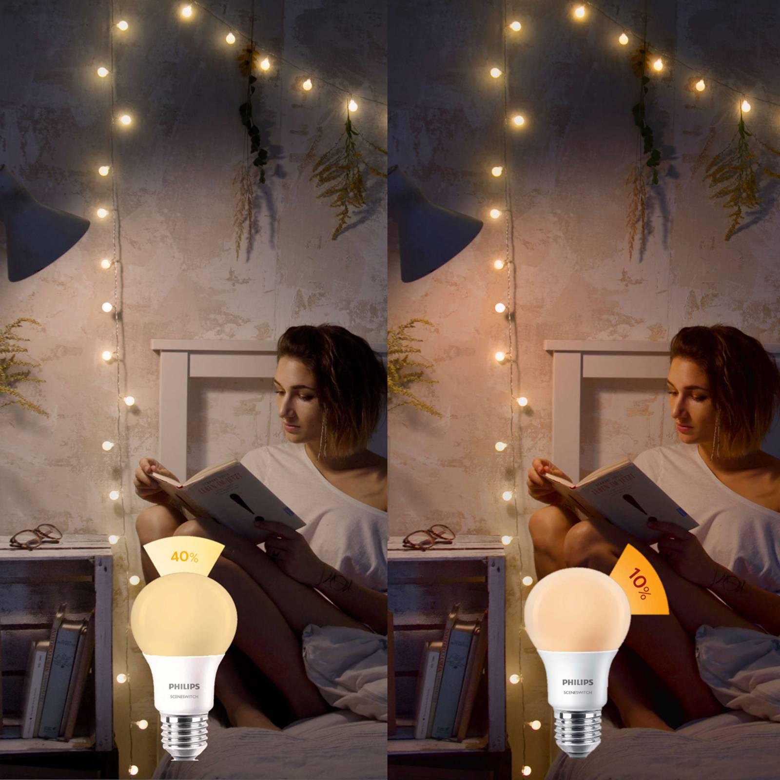 E27 8 W 827 LED-lamppu SceneSwitch matta