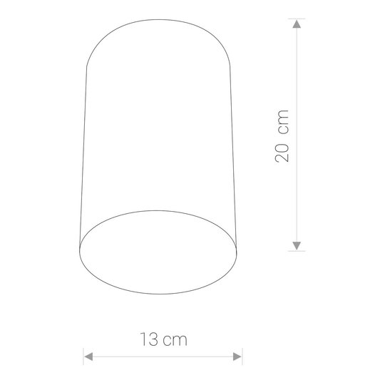 Takspot Point Plexi L svart/hvit