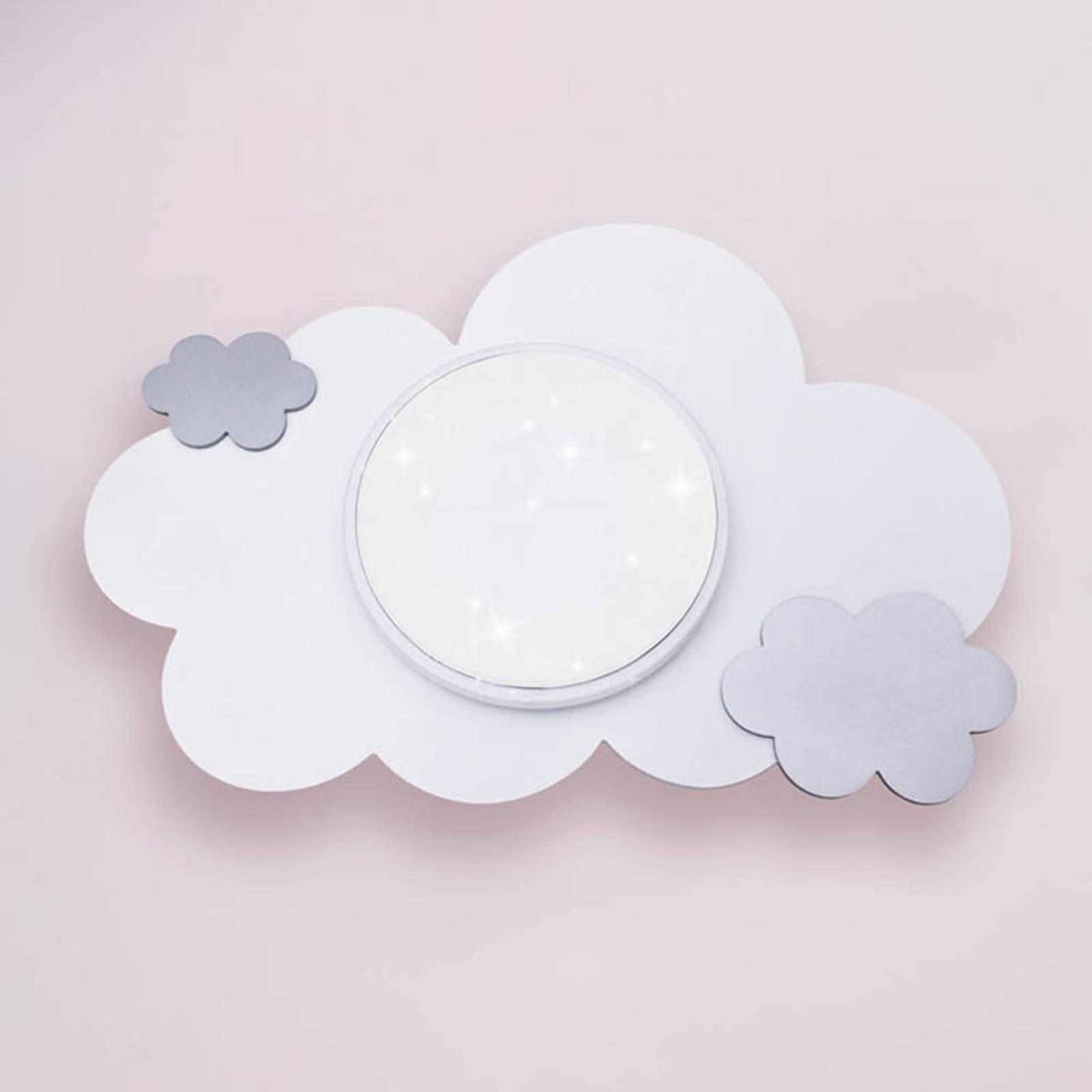 LED-vegglampe sky Starlight, sølv