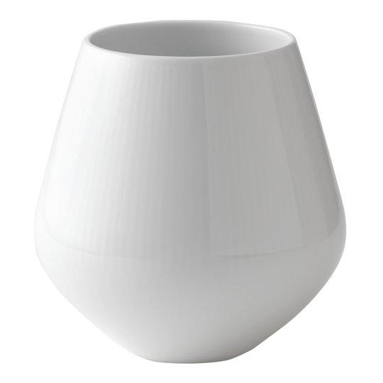 Royal Copenhagen - White Fluted Vas 15 cm