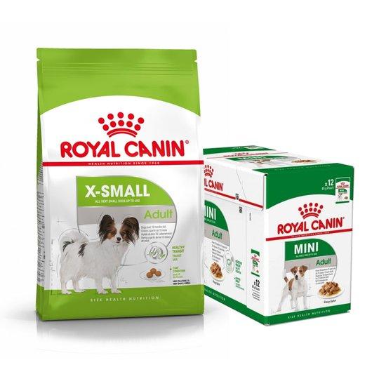 Royal Canin X-small Adult Torrfoder 3 kg + Multipack Våtfoder