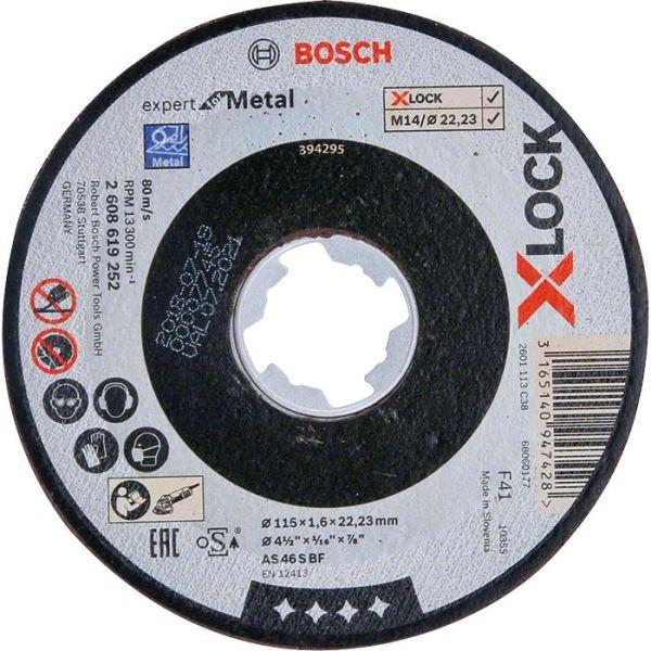 Bosch Expert for Metal Kappskive X-LOCK, rett skjæring 115 × 1,6 × 22,23 mm