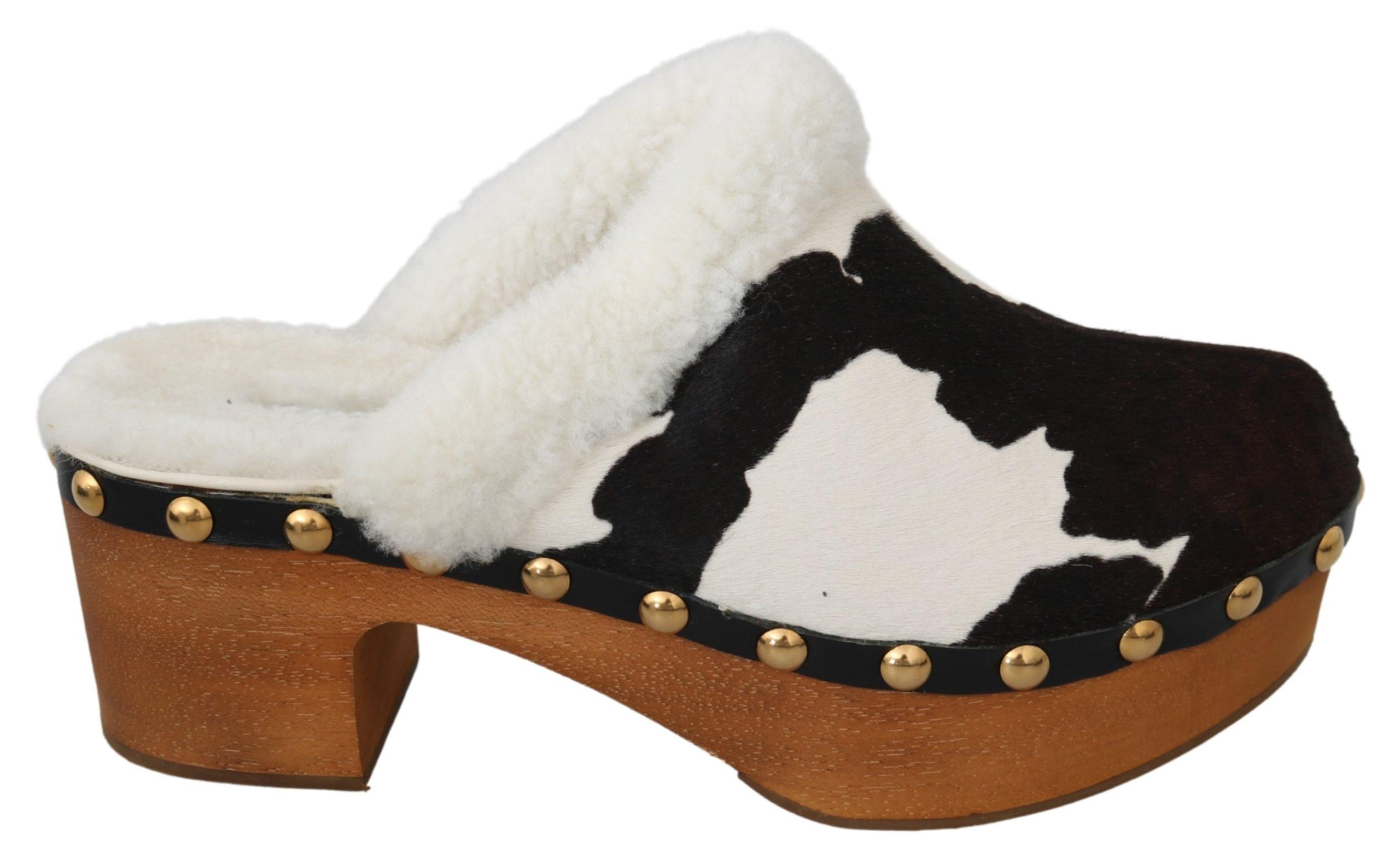Dolce & Gabbana Women's Pony Hair Sandals Brown LA7079 - EU39/US8.5