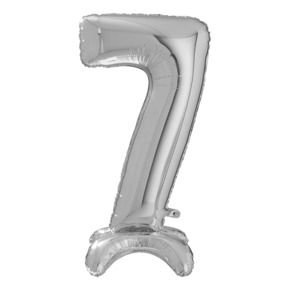 Sifferballong med Ställning Silver - Siffra 7