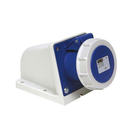 Garo UIV 432-9 S + RU Seinäpistorasia IP67, 5-napainen, 32A Sininen, 9 h