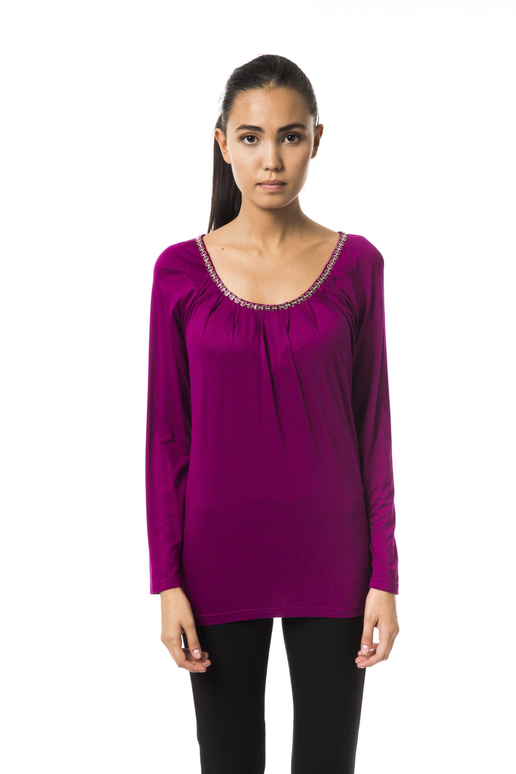 BYBLOS Women's Magentabis T-Shirt Violet BY1234734 - IT42 | S