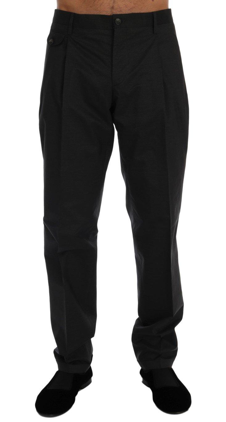 Dolce & Gabbana Men's Striped Cotton Trouser Gray PAN60317 - IT52   XL