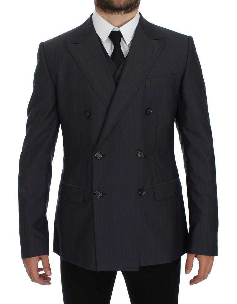 Dolce & Gabbana Men's Slim Fit Wool Silk Blazer Blue GTT10082 - IT50 | L