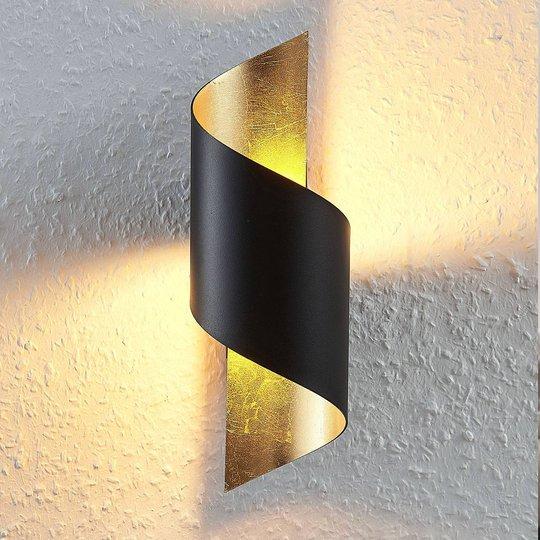 Metallinen LED-kattovalaisi Desirio, musta-kulta