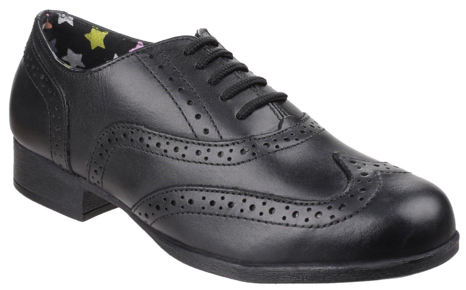 Hush Puppies Men's Kada Senior School Shoe Black 25337 - Black 6