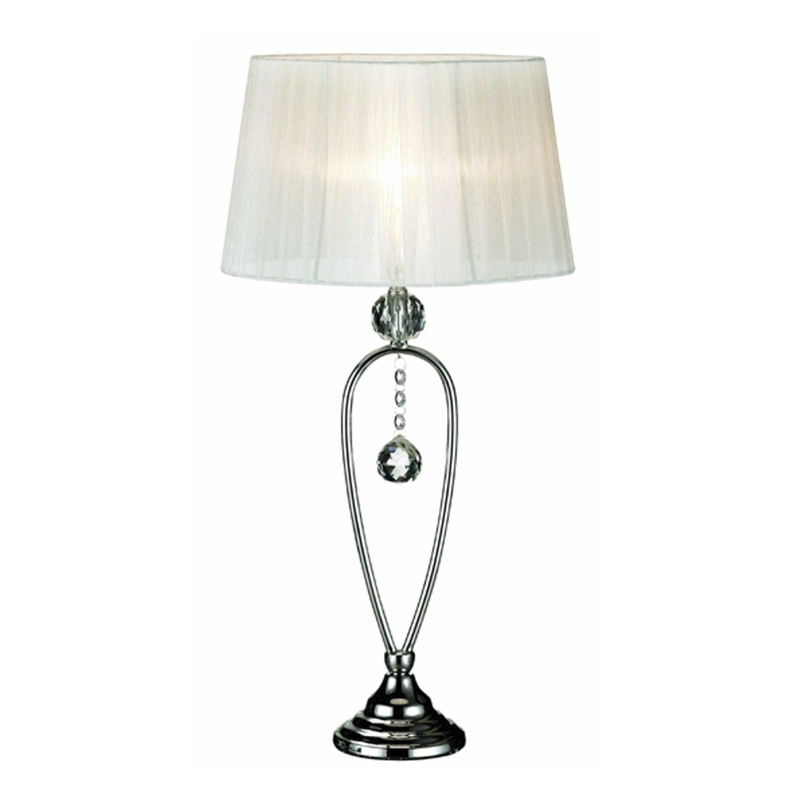 Elegant briljant bordlampe Christinehof, hvit