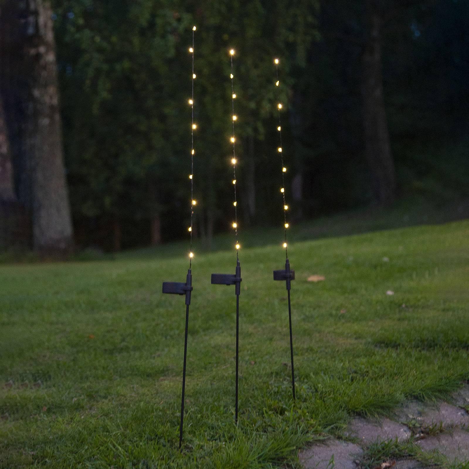 Aurinkokäyttöinen Flexy-LED-valaisin, 3 kpl