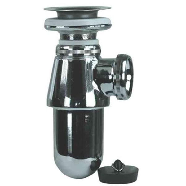 Gelia 3000920402 Pungvannlås metall, med bunnventil, for 32 mm rør