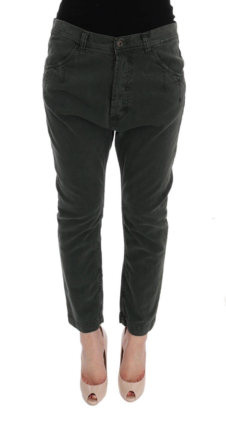 Dolce & Gabbana Women's Cotton High Waist Cropped Jeans Gray SIG50014 - W26