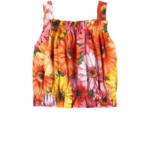 Dolce & Gabbana Gerbera Floral Linne Orange 6 år