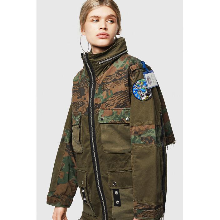 Diesel Women's Jacket Green 320351 - green S