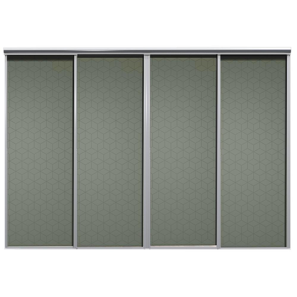 Mix Skyvedør Cube Mosegrønn 3400 mm 4 dører
