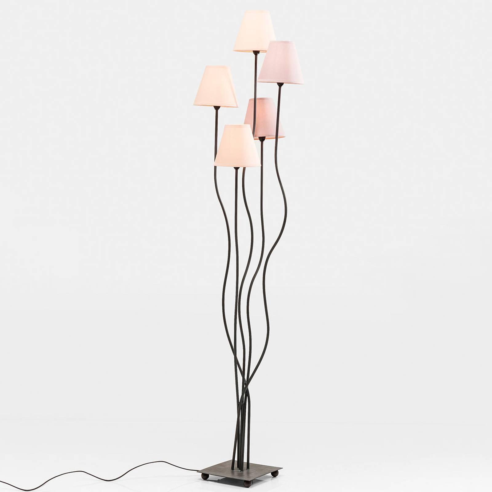 Kare Flexible Berry Cinque – gulvlampe 5 lyskilder