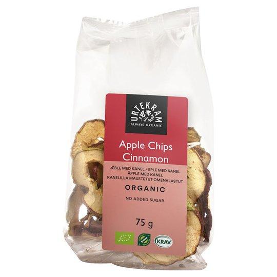 Urtekram Food Ekologiska Äppelchips med Kanel, 75 g