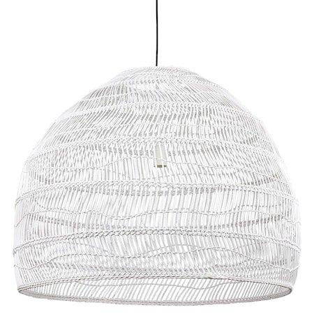 wicker pendant lamp ball white L