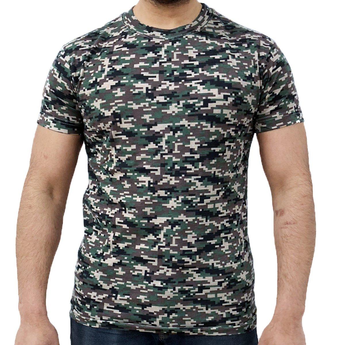 Game Digital Camouflage T-Shirts - Digital Woodland S