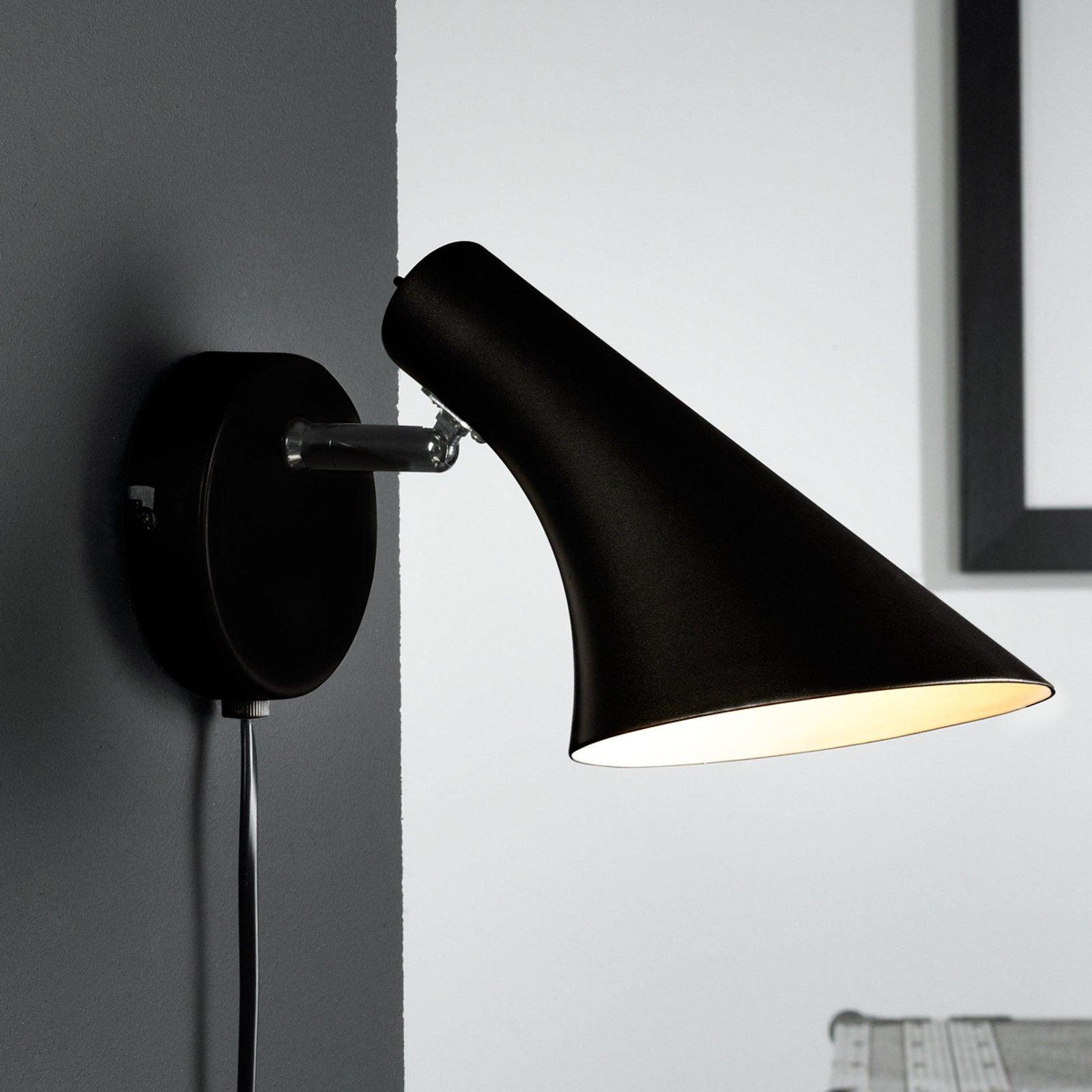 Moderne og fleksibel Liam vegglampe i svart