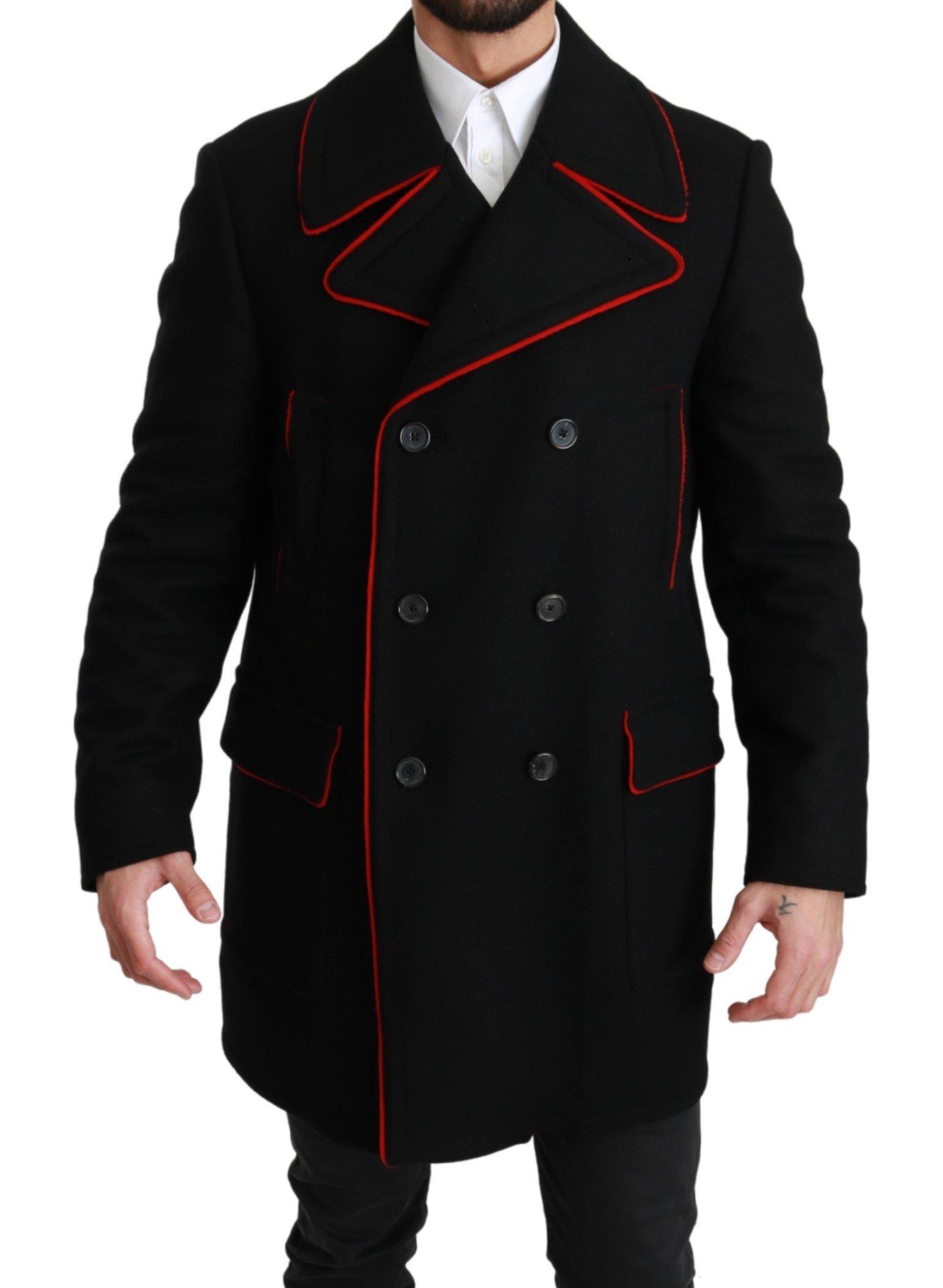Dolce & Gabbana Men's Wool Stretch Jacket Black KOS1660 - IT50 | L