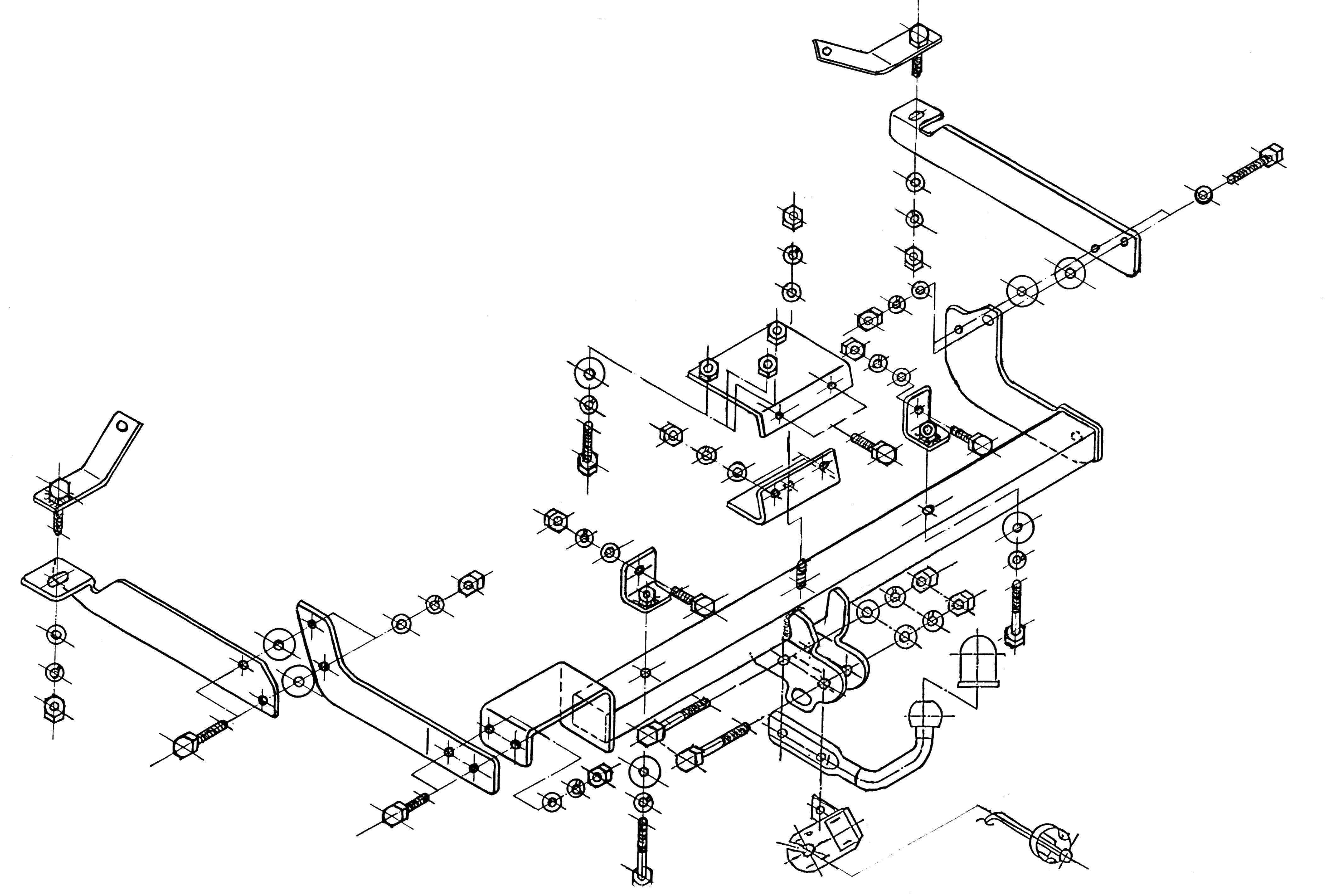 Vetokoukku STEINHOF STC-127 Citroen Xsara '97-05