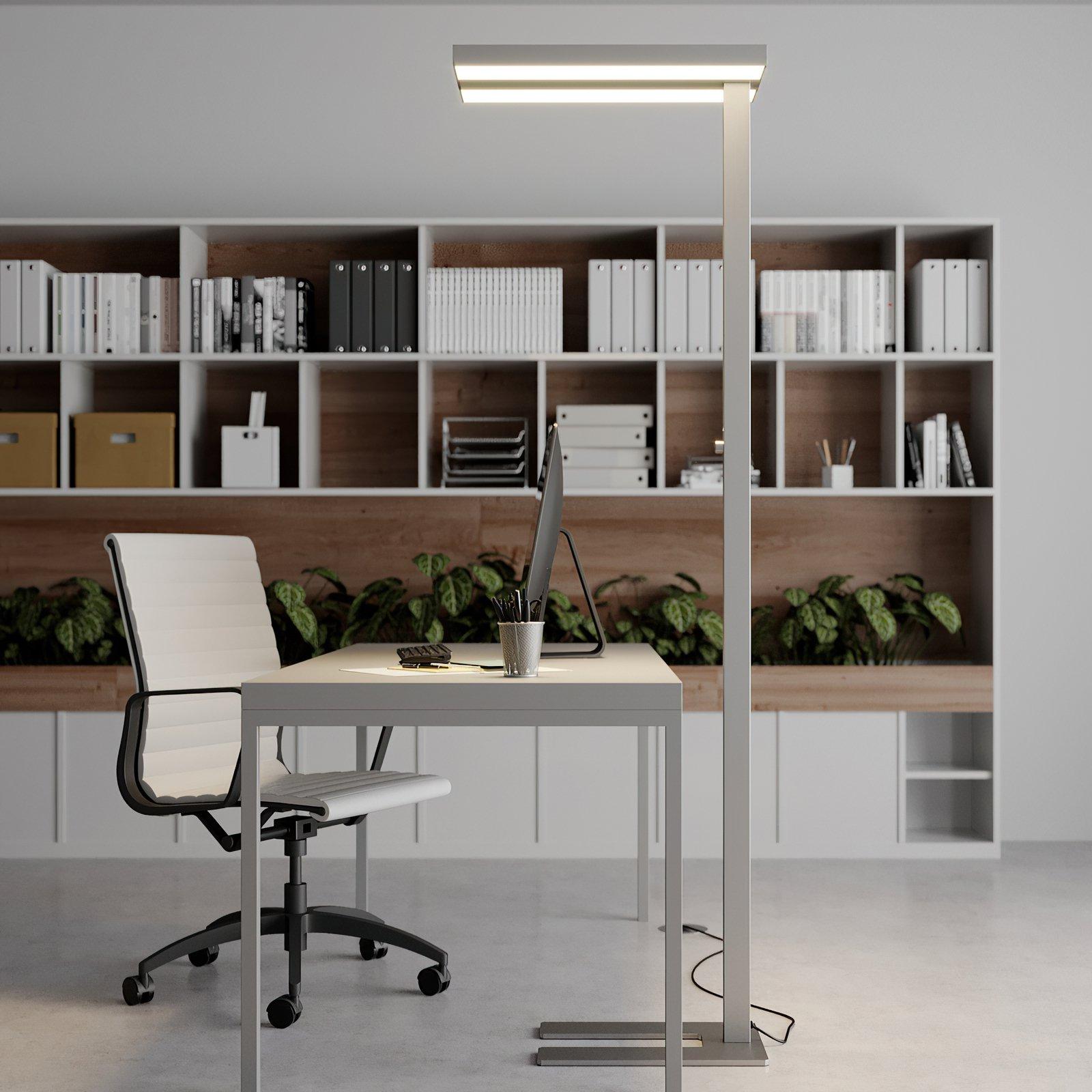 Logan dimbar LED gulvlampe til kontor, 4 000 K