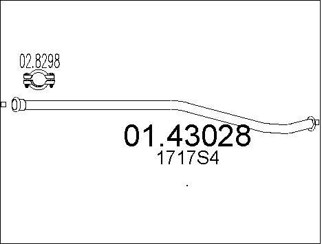 Pakoputki MTS 01.43028
