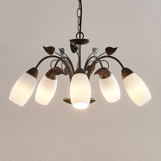 Lindby Isalie LED-riippuvalaisin, 5-lamppuinen