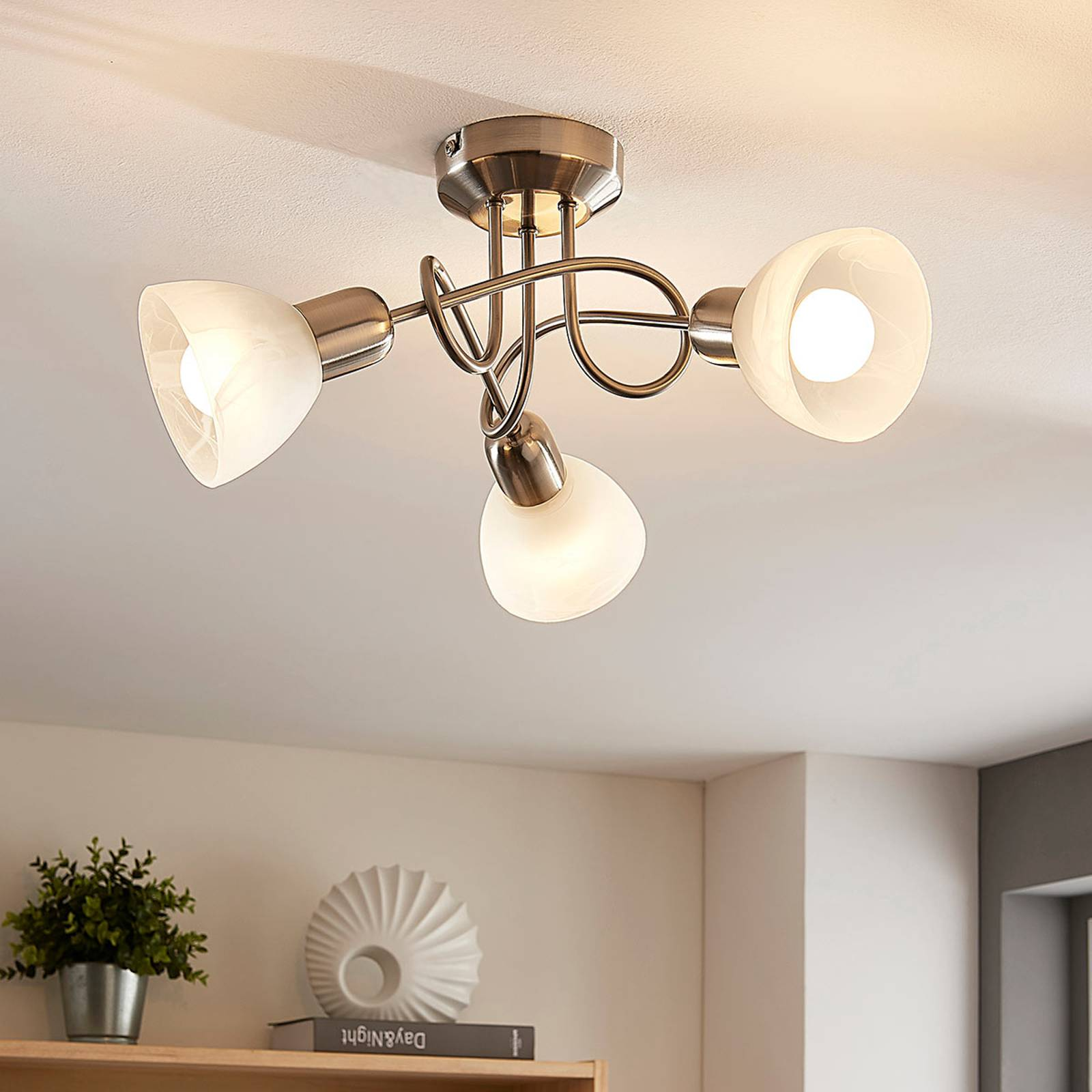 Lindby Paulina -LED-kattovalo, 3-lamp., pyöreä