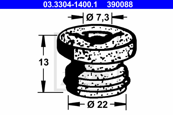 Tulppa, jarrunestesäiliö ATE 03.3304-1400.1
