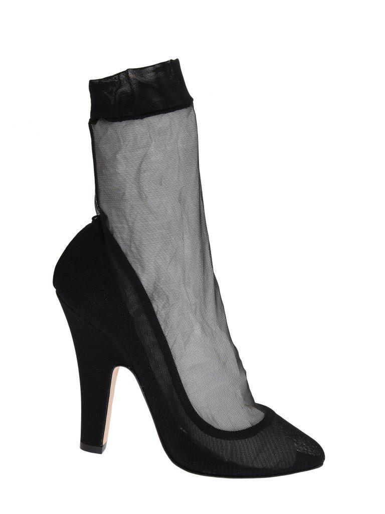 Dolce & Gabbana Women's Nylon Socks Classic Pumps Black LA3698 - EU40/US9.5