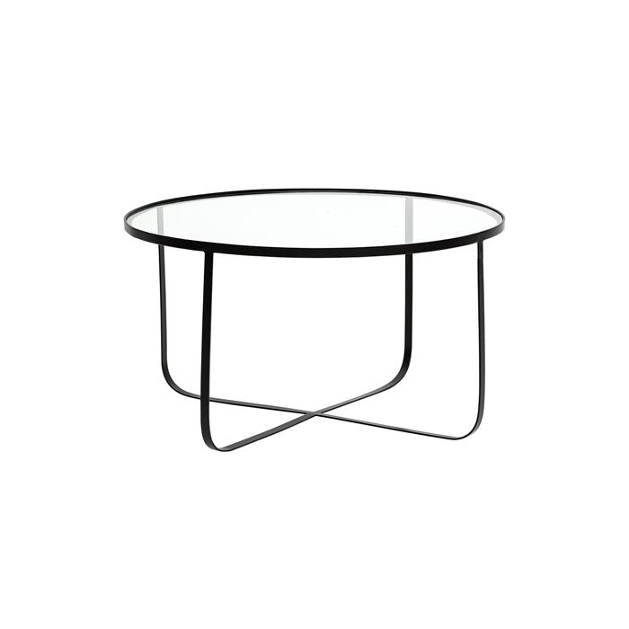 Soffbord HARPER glas/ svart, Bloomingville