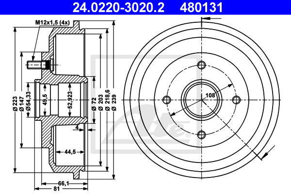 Jarrurumpu ATE 24.0220-3020.2