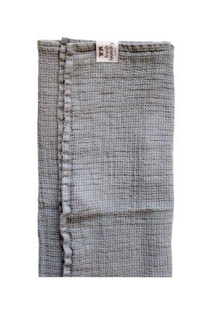 Fresh Laundry Vaffelhåndkle 47x65 cm sølvgrå 2 pk