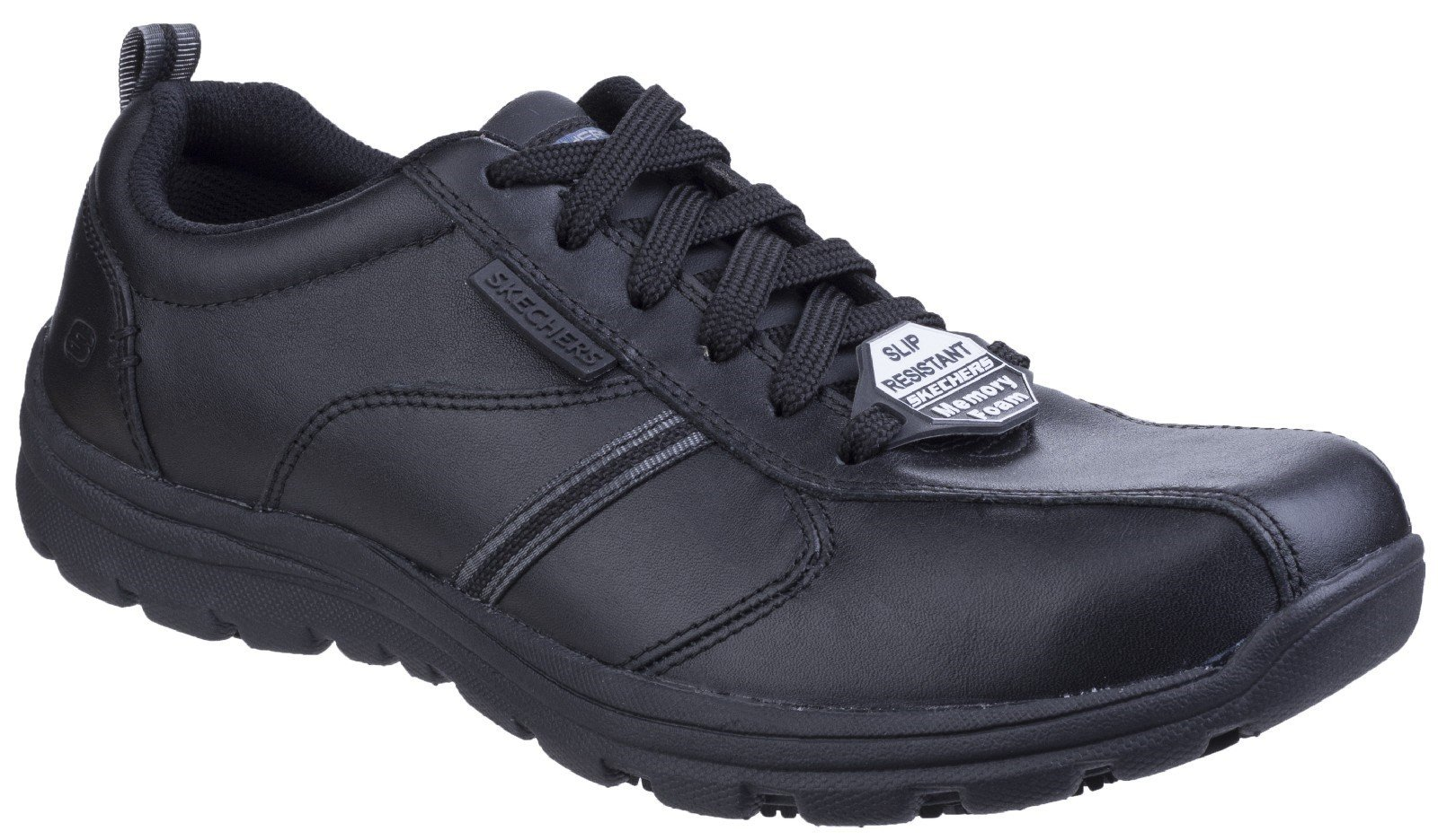 Skechers Unisex Hobbes Frat Lace up Shoe Black 25220 - Black 10