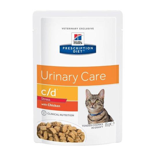 Hill's Prescription Diet Feline c/d Urinary Care Stress Chicken 12x85 g