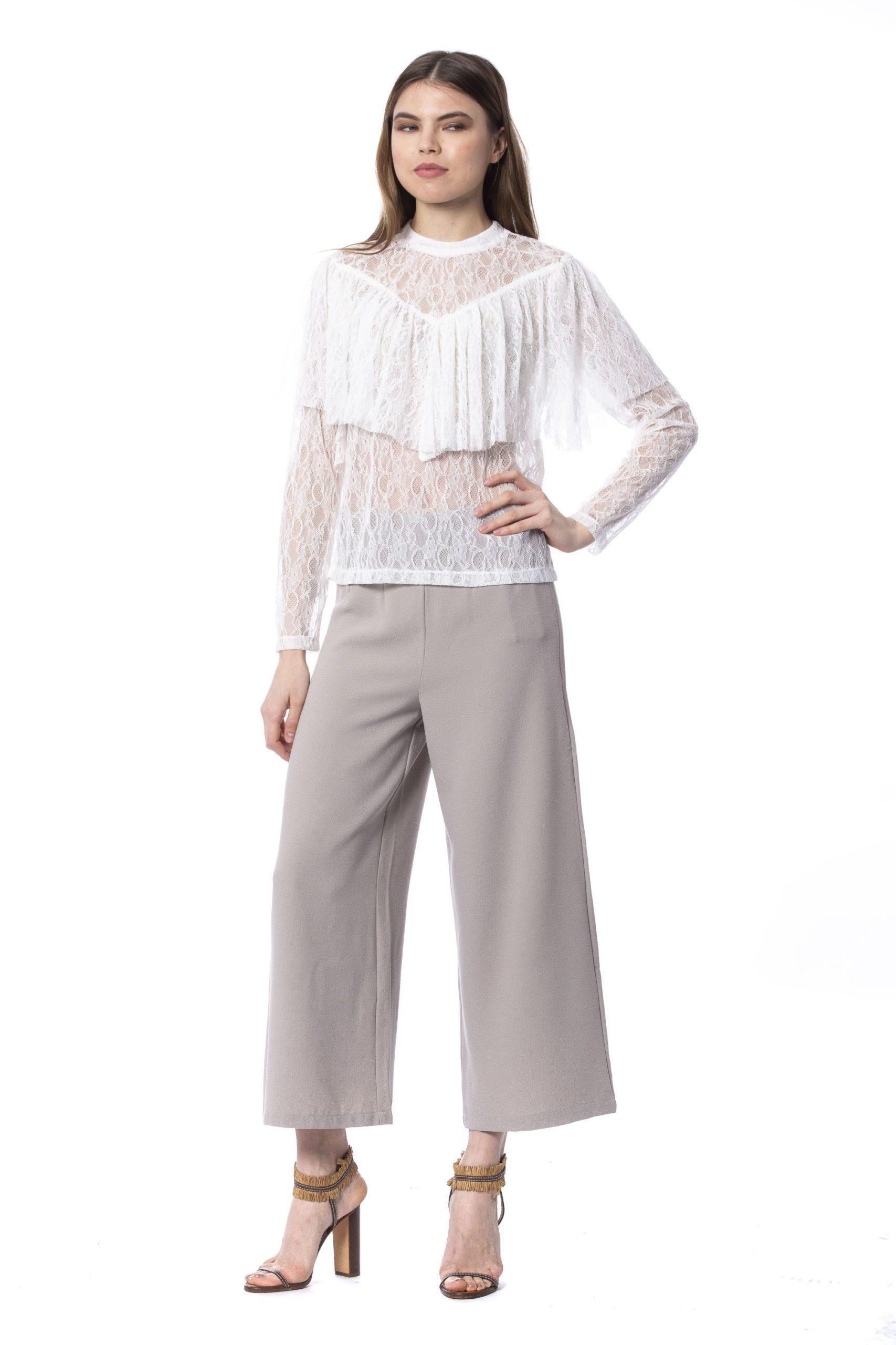 Silvian Heach Women's Milk T-Shirt White SI1235201 - XXS