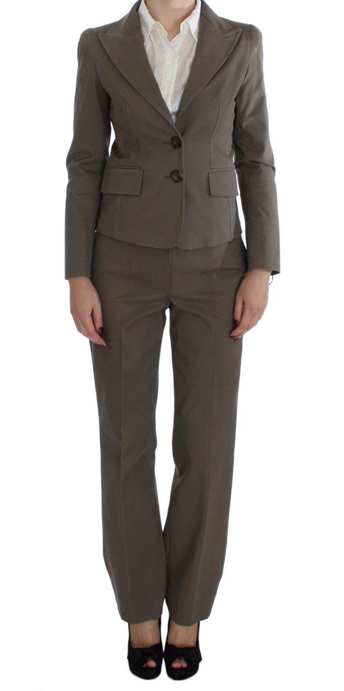 BENCIVENGA Women's Wool Cotton Suit Beige SIG30891 - XXL