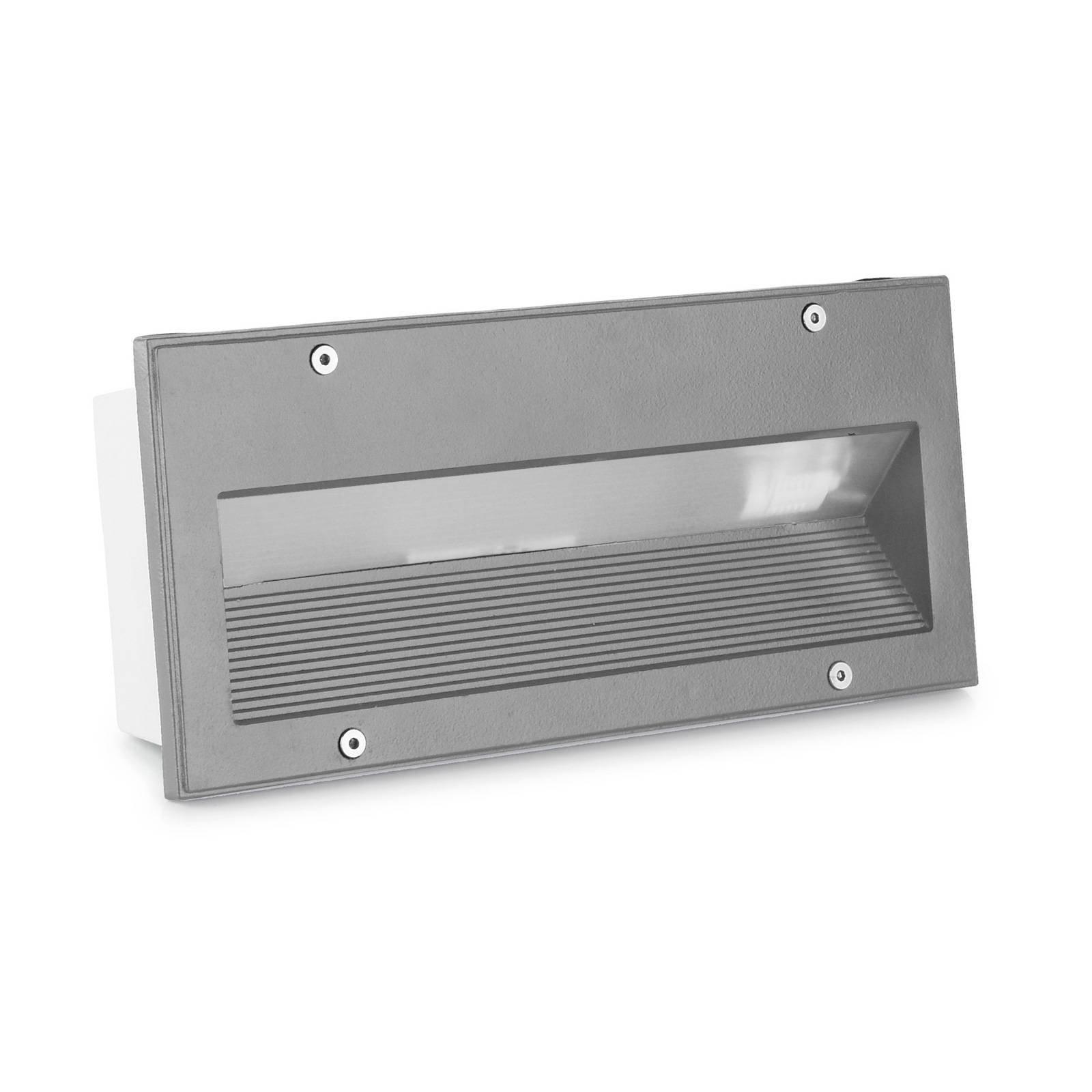 LEDS-C4 Micenas innfellingslampe, 25,5x11,5cm, grå