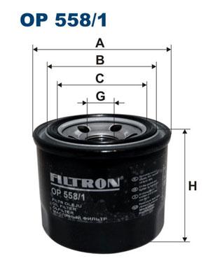 Öljynsuodatin FILTRON OP 558/1