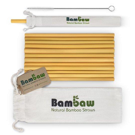 Bambaw Ekologiska Sugrör Bambu, 12-pack