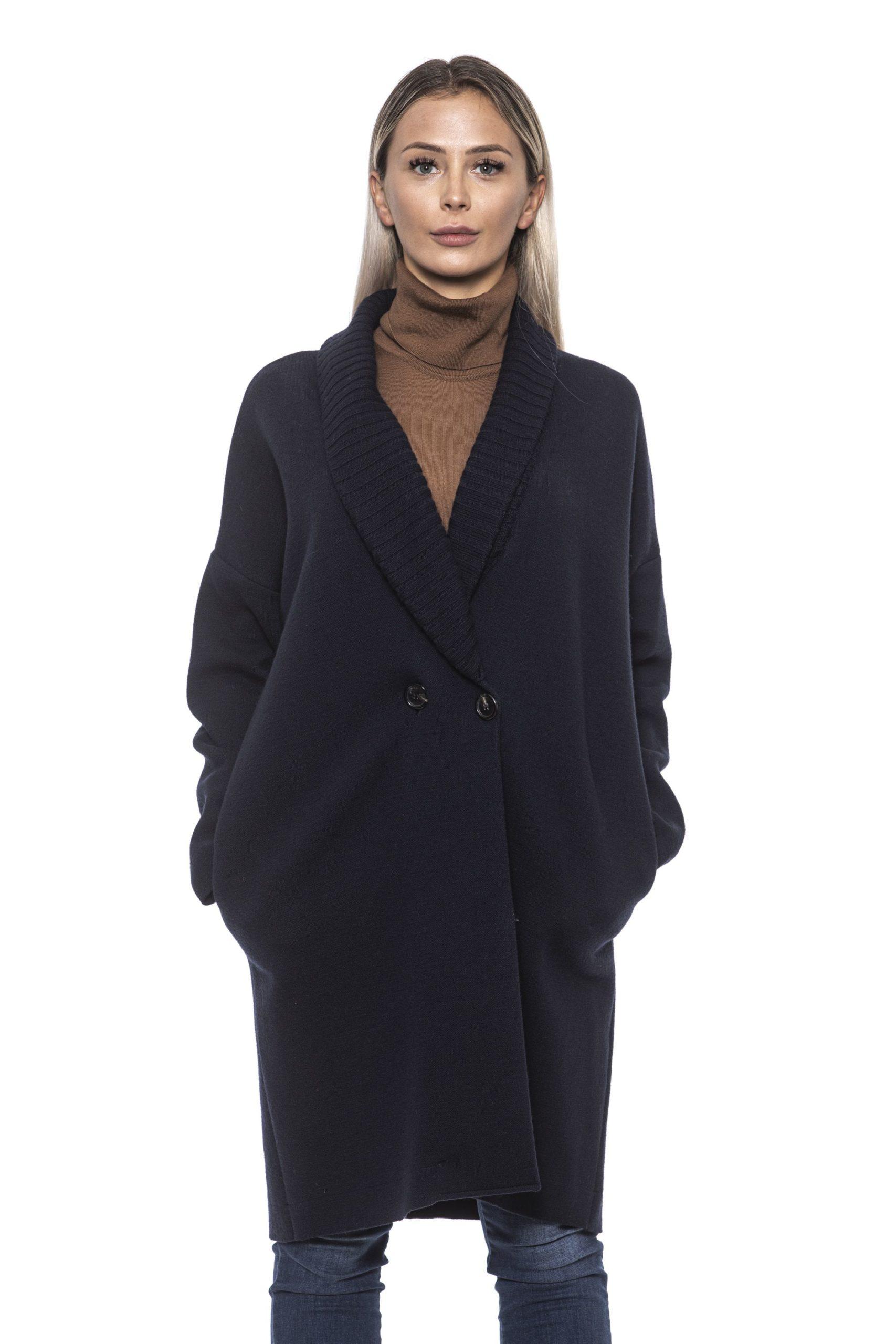 Alpha Studio Women's Blunotte Coat Blue AL1192166 - IT40   XS