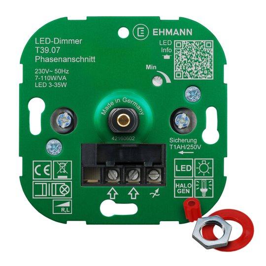 EHMANN T39 LED-dimmer fasesnitt, 7 - 110 W