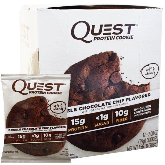 """Hel Låda Proteinkakor """"Double Chocolate Chip"""" 12 x 59g - 50% rabatt"""